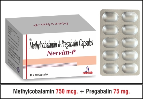 Methylcobalamin 750 mcg.+Pregabalin 75 mg.