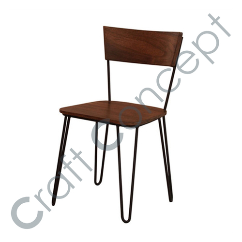 WOODEN & METAL CHAIR