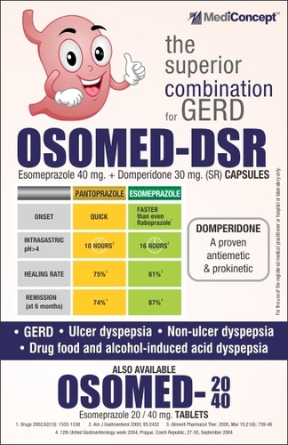 ESOMEPRAZOLE & DOMPERIDONE DSR CAPSULES
