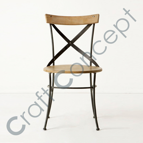 CROSS METAL & WOODEN CHAIR
