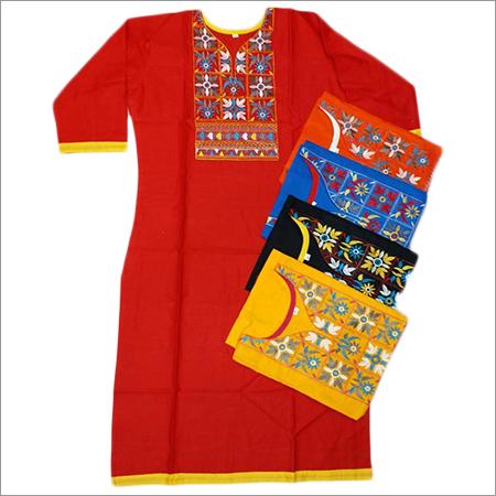 Ladies Cotton Embroidery Kurtis