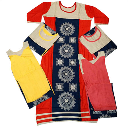 Ladies Slab Rayon Kurtis