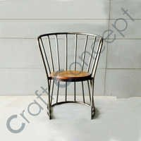 AROUND METAL ARM CHAIR