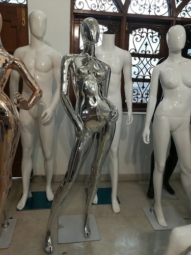 Silver Chrome Female Mannequins
