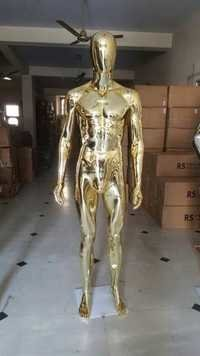 Golden Chrome Male Mannequins