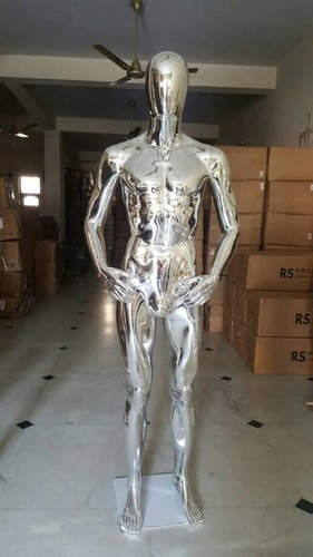 Silver Chrome Male Mannequin