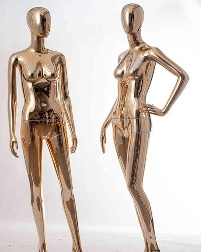 Rose Gold Chrome Female Mannequins