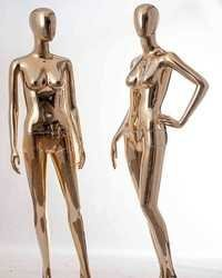 Rose Gold Chrome Female Mannequins