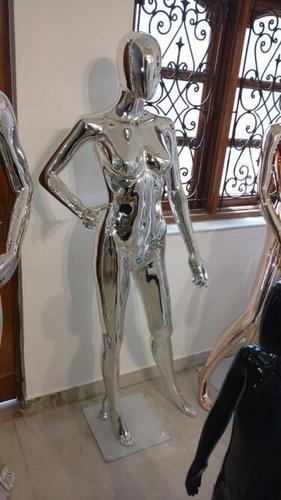 Silver Chrome Female Mannequins
