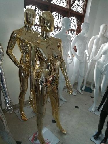 Gold Chrome Female Mannequins