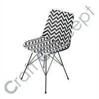 CROSS METAL LEGS  LEATHER CHAIR