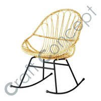 ROCKING ARM CHAIR IN RATTAN