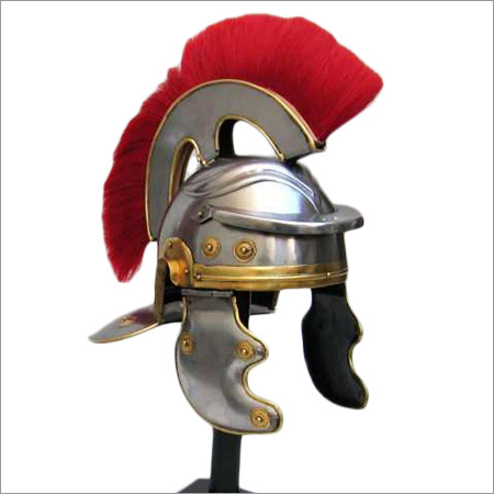 Red Plume Roman Corinthian Helmet
