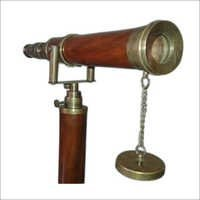 Brass And Wooden Telescope