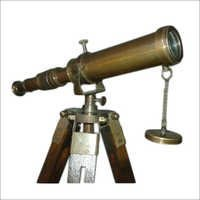 Antique brass telescope tripod