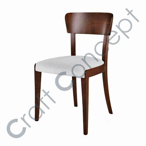 COTTON SEAT WOODEN CHAIR