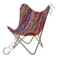 MULTICOLOR RECYCLED COTTON ARM CHAIR