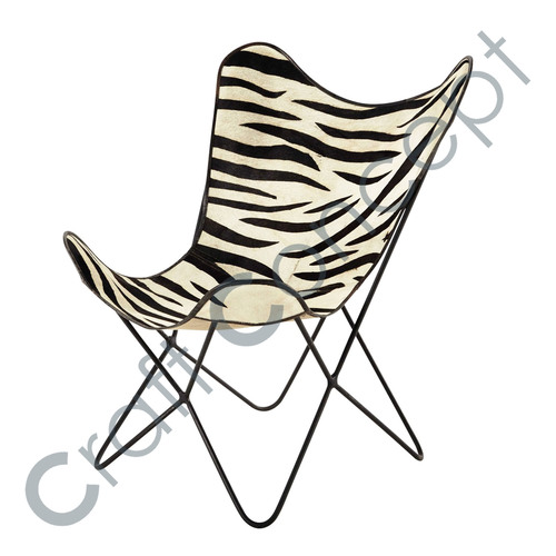 ZEBRA LEATHER ARM CHAIR