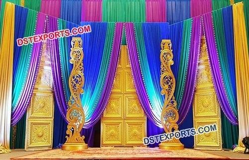 Golden Door Panel Stage for Wedding