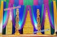 Golden Door Panel Stage for Wedding