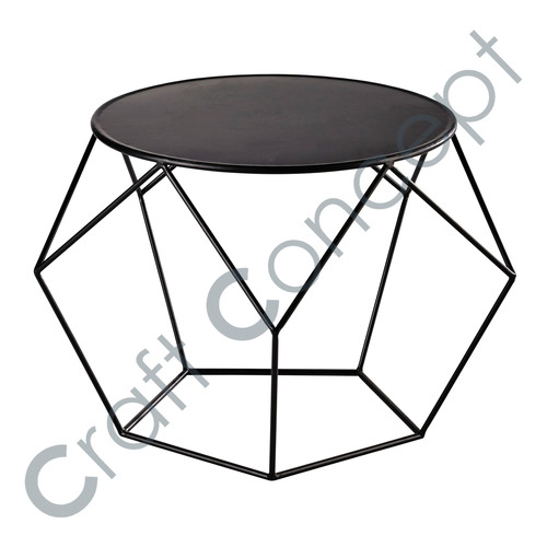ROUND PRISM METAL COFFEE TABLE