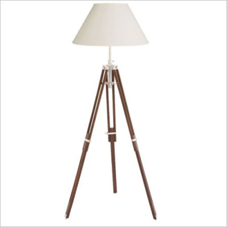 Chrome Finish Lamp Stand With Shade