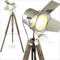 Flap Search Light With Wooden Tripod Stand