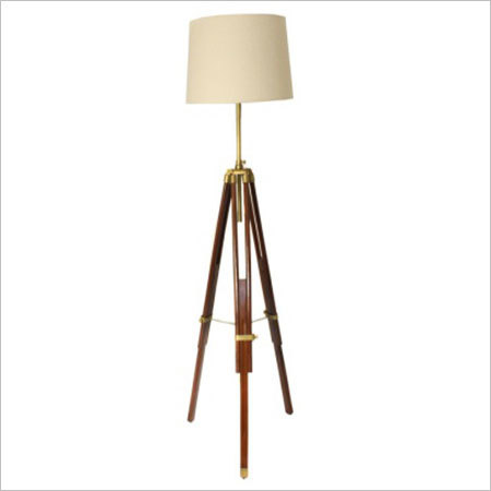 Floor Lamp With Brown Tripod Stand