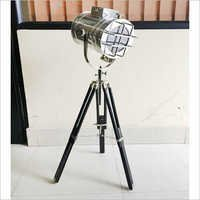 Marine Search Light With Black Tripod Stand