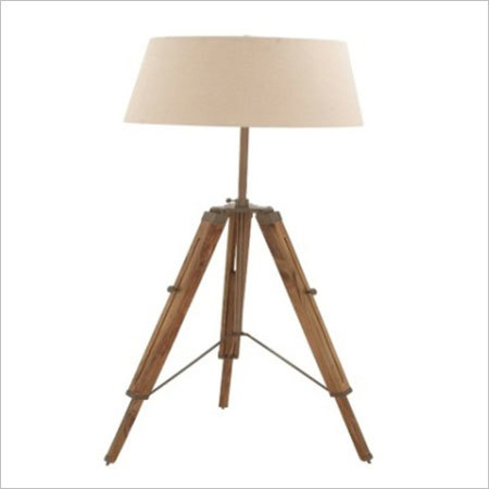 Nautical Tripod Floor Lamp With Wooden Stand
