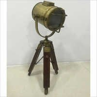Brass Antique Finish Lamp With Tripod Stand