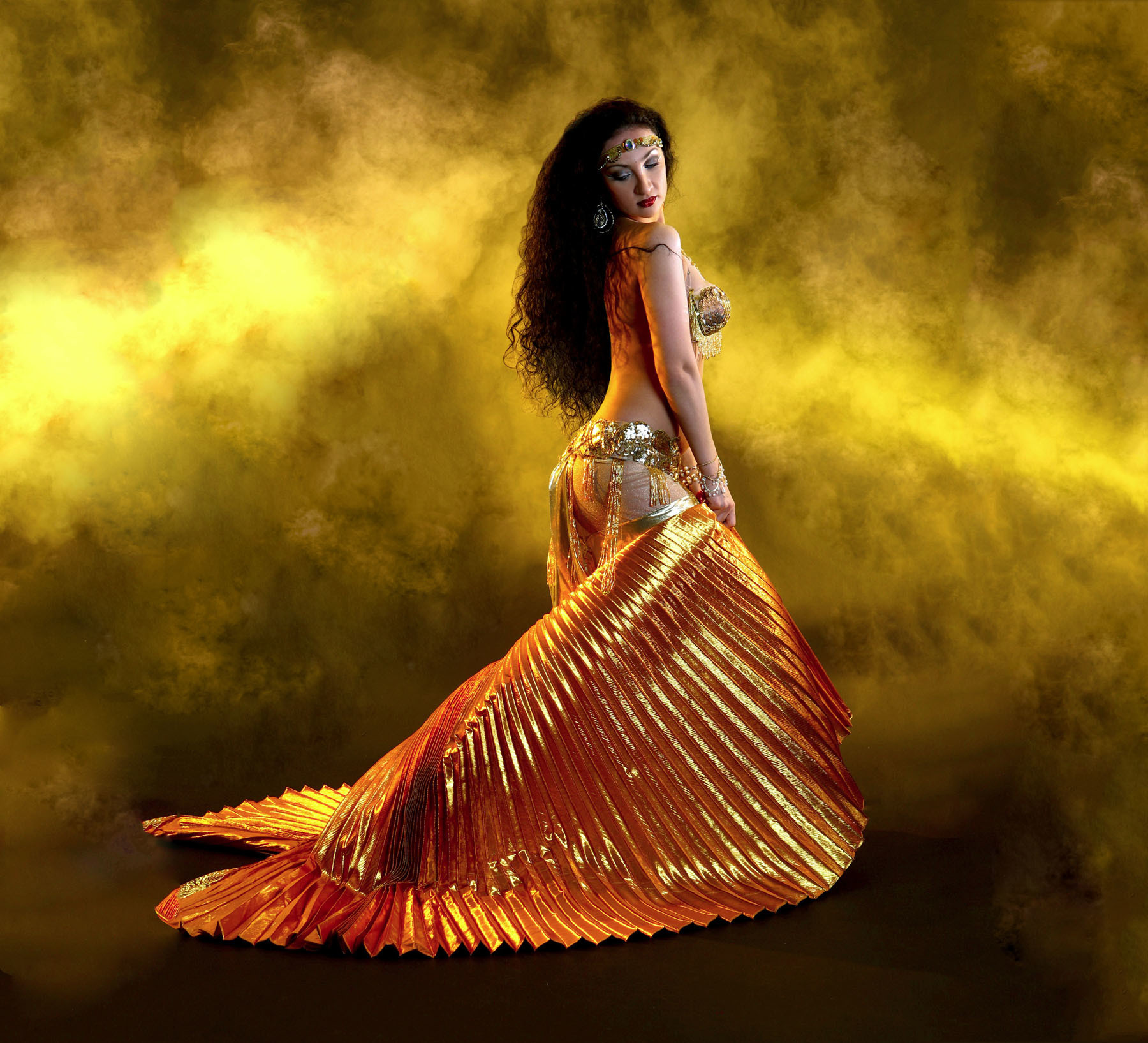 Belly Dance Yellow Costume