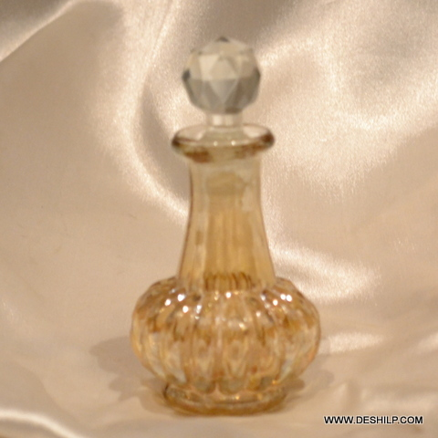 YELLOW PERFUME BOTTLE AND DECANTER, REED DIFFUSER,DEC