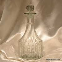 CLEAR PERFUME BOTTLE AND DECANTER, REED DIFFUSER,DECORATIVE PERFUME