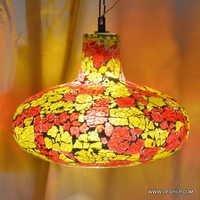 Light Collection Mini Pendant Chandelier Glass Bulb Pendant Clear Crackle Hanging