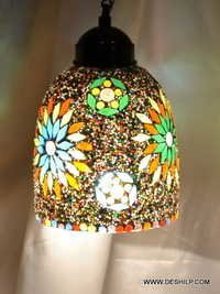 Mixed Star Hanging Lamp Mosaic Glass Star Lamp - Special Colors