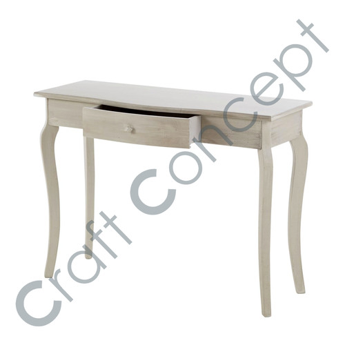 GRAY WOOD CONSOLE TABLE