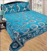 Sky Blue Color Chenille Bed Sheet Super Design
