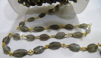 Blue Flashy Labradorite Rosary Chains
