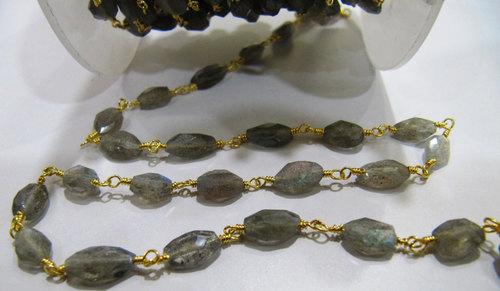 Blue Flashy Labradorite Rosary Chains