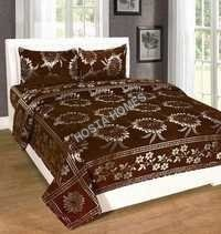 New Design Coffee Color Chenille Bed Sheet