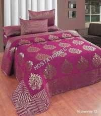 Chenille Latest Design 1 Bed Sheet 2 Pillow Covers