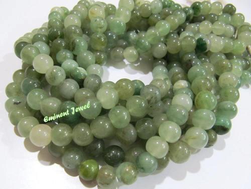 Emerald Jade Agate Round Plain Beads