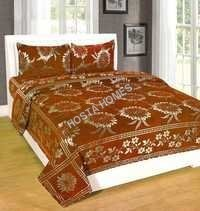 Floral Chenille Bed Sheet With Pillow Covers