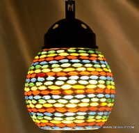 Mosaic Lamp in White Multicolors Hanging Mosaic Lamp in Bright MultiColors Hanging