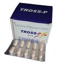 Tross-P Tablet (Aceclofenac IP 100mg + Paracetamol IP 500mg)