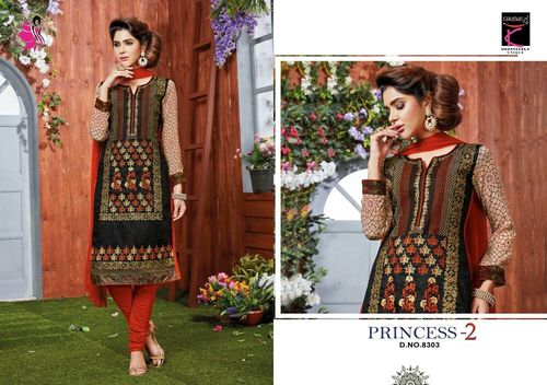 Cotton Embroidery Work Salwar Suits Wholesaler