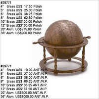 Antique Metal Globe