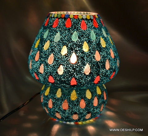 Shaped Glass Table Lamp