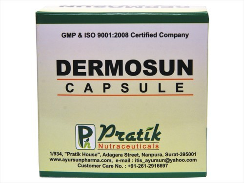 Ayurvedic Capsule For Skin Disease-Dermosun Cap